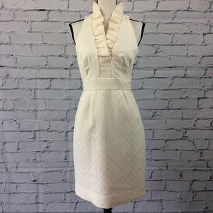 Just...Taylor Ruffled Neck Dress, Size 8